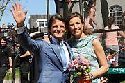 Koninginnedag 2012 in de Utrechtse gemeente Veenendaal. / Queensday 2012 in the city of Veenendaal.<br /> <br /> Op de foto:  Prins Maurits en Prinses Marilène