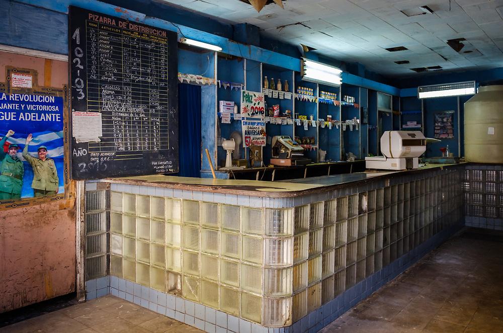 HAVANA, CUBA - CIRCA MARCH 2017: Typical grocery store shop in Havana.