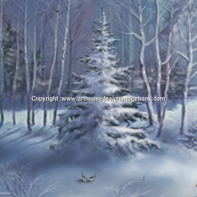 art for corporate christmas cards