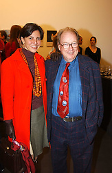 LORD & LADY MCALPINE at an exhibition of photographs by Matthew Mellon entitled Famous Feet - featuring well known people wearing shoes from Harrys of London, held at Hamiltons Gallery, Carlos Place, London on 22nd November 2004.<br /><br />NON EXCLUSIVE - WORLD RIGHTS