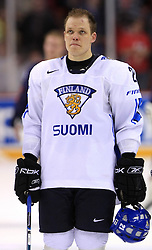 Janne Niskala of Finland at ice-hockey match Finland vs USA at Qualifying round Group F of IIHF WC 2008 in Halifax, on May 11, 2008 in Metro Center, Halifax, Nova Scotia, Canada. (Photo by Vid Ponikvar / Sportal Images)