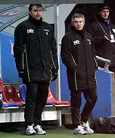 Fotball<br /> Tippeligaen Eliteserien<br /> 06.04.08<br /> Ullevaal Stadion<br /> FC Lyn Oslo - Bodø/Glimt Bodø Glimt<br /> Trener ne Bent Inge Johnsen og Kåre Ingebrigtsen<br /> Foto - Kasper Wikestad