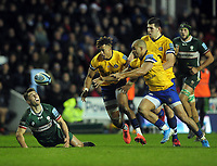 Rugby Union - 2019 / 2020 Gallagher Premiership - London Irish vs. Bath<br /> <br /> Jonathan Joseph, and Anthony Watson of Bath compete for the loose ball, at Madejski Stadium.<br /> <br /> COLORSPORT/ANDREW COWIE