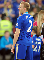 Football - 2015 / 2016 Premier League - Leicester City vs. Everton<br /> <br /> Ritchie De Laet of Leicester City at the King Power Stadium.<br /> <br /> COLORSPORT/ANDREW COWIE