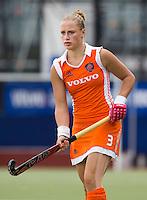 DEN BOSCH -  Lieke van Wijk van Nederland tijdens de wedstrijd tussen de vrouwen van Jong Oranje  en Jong Wit-Rusland (15-0), tijdens het Europees Kampioenschap Hockey -21. ANP KOEN SUYK