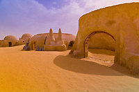 Star Wars movie set in the Sahara Desert at Ong El Jemel, Tunisia