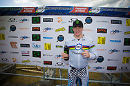 #11 (FIELDS Connor) USA wins the time trial at the UCI BMX Supercross World Cup in Papendal, Netherlands.