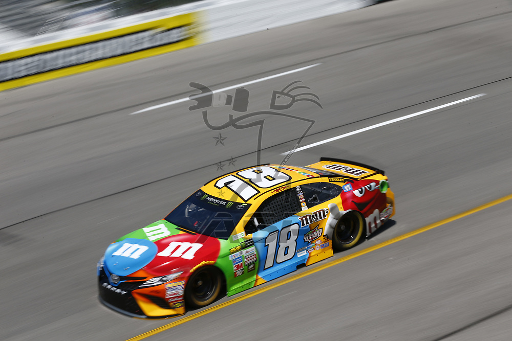 April 28, 2017 - Richmond, Virginia, USA: Kyle Busch (18) takes to the track to practice for the Toyota Owners 400 at Richmond International Speedway in Richmond, Virginia.
