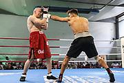 BOXEN: Hamburg Giants Professional Boxing, Hamburg. 01.08.2020<br /> Alex  Born - Christian Dulz<br /> © Torsten Helmke