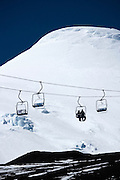 Chairlift on Osorno Volcano, Lake Llanquihue, Chile