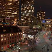 Boston's Quincy Market area is a very popular year-round tourist destination