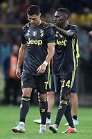 Cristiano Ronaldo Juventus consolato da Blaise Matuidi Juventus <br /> Parma 01-09-2018 Stadio Ennio Tardini Calcio Serie A 2018/2019 Parma - Juventus <br /> Foto Andrea Staccioli / Insidefoto