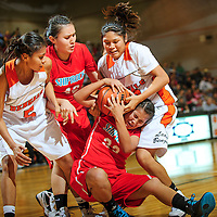 112812  Adron Gardner<br /> <br /> The Gallup Bengals and Shiprock Chieftains fight for possession in Gallup Saturday.