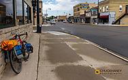 Bicycle touring along the Sheyenne Scenic Byway in Lisbon, North Dakota, USA