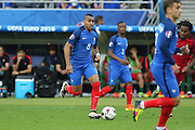 France Midfielder Dimitri Payet during the Euro 2016 final between Portugal and France at Stade de France, Saint-Denis, Paris, France on 10 July 2016. Photo by Phil Duncan.