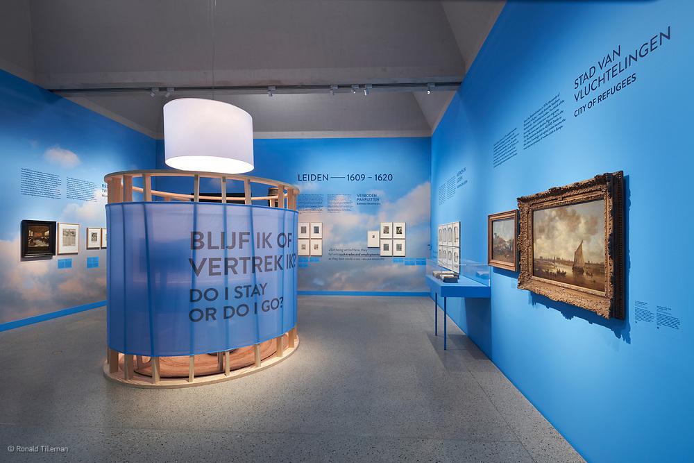 Tentoonstelling Pilgrims naar Amerika, Musuem de Laknehal Leiden. Ontwerp Northern light