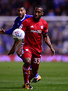 Junior Hoilett of Cardiff City in action .EFL Skybet championship match, Birmingham city v Cardiff city at St.Andrew's stadium in Birmingham, the Midlands on Friday 13th October 2017.<br /> pic by Bradley Collyer, Andrew Orchard sports photography.
