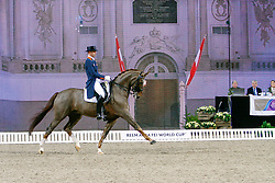 Minderhoud Hans Peter, (NED), Glock's Flirt<br /> Swedish International Horse Show Stockholm 2015<br /> © Hippo Foto - Peter Zachrisson