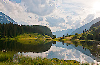 Magical Golzern reflected in the lake in  Canton Uri, Switzerland.