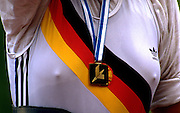© Peter Spurrier Sports Photo<br />email pictures@rowingpics.com<br />tel +44 7973 819551<br />Photo Peter Spurrier<br />DDR W8+ Stroke DDR Rowing kit.  Lucerne winners Gold medal