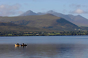 Fishermen on Lough Leane, Killarney.<br /> Photo Don MacMonagle