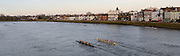 London, United Kingdom. General view crews  from Barnes Rail Bridge ridge  2014 Women's Head of the River Race. Chiswick to Putney, River Thames.  Saturday  15/03/2014    [Mandatory Credit; Peter Spurrier/Intersport-images]