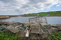 Lobster traps,  Grand Étang Harbour, Cape Breton Island Nova Scotia