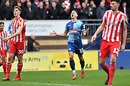 Wycombe Wanderers Matthew Bloomfield(10) rues a missed chance*** during the EFL Sky Bet League 1 match between Wycombe Wanderers and Sunderland at Adams Park, High Wycombe, England on 9 March 2019.