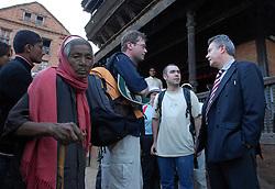 BHAKTAPUR, NEPAL - NOV-04-2006 - Karel De Gucht , Belgian Minister of Foreign Affairs visits the ancient city of Bhaktapur.