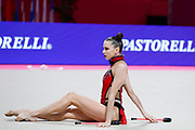 Karolina Mizune during the qualifications in Vitrifrigo Arena for the  Pesaro World Championships on 28/29 May 2021. She is a Lithuanian rhythmic gymnastics born in Riga on November 20, 1999.<br /> .