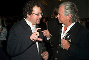 PHILIP GWYN AND PATRICK WALSH. party to celebrate the 100th issue of Granta magazine ( guest edited by William Boyd.) hosted by Sigrid Rausing and Eric Abraham. Twentieth Century Theatre. Westbourne Gro. London.W11  15 January 2008. -DO NOT ARCHIVE-© Copyright Photograph by Dafydd Jones. 248 Clapham Rd. London SW9 0PZ. Tel 0207 820 0771. www.dafjones.com.
