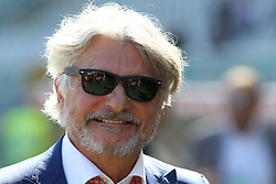 September 17, 2017 - Turin, Piedmont, Italy - Massimo Ferrero, president of US Sampdoria, before the Serie A football match between Torino FC and US Sampdoria at Olympic Grande Torino Stadium on 17 September, 2017 in Turin, Italy. (Credit Image: © Massimiliano Ferraro/NurPhoto via ZUMA Press)