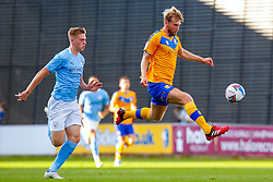 Aaron O'Driscoll of Mansfield Town controls the ball - Mandatory by-line: Ryan Crockett/JMP - 08/09/2020 - FOOTBALL - One Call Stadium - Mansfield, England - Mansfield Town v Manchester City U21 - Leasing.com Trophy