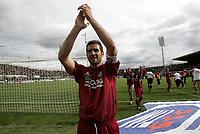 Livorno 17-4-05<br />Livorno Fiorentina Campionato serie A 2004-05<br />nella  foto Cristiano Lucarelli esulta a fine partita<br />Foto Snapshot / Graffiti