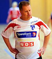 Håndball Skrimhallen 4 April 2009<br /> Kvinner 2 div Kvalifisering  til 1 div<br /> <br /> HK Rygge vs Stjørdal HK<br /> <br /> Resultat  26 - 23<br /> <br /> Foto: Robert Christensen - Digitalsport<br /> <br /> HK Rygge Trener Kai Frydenlund Holm