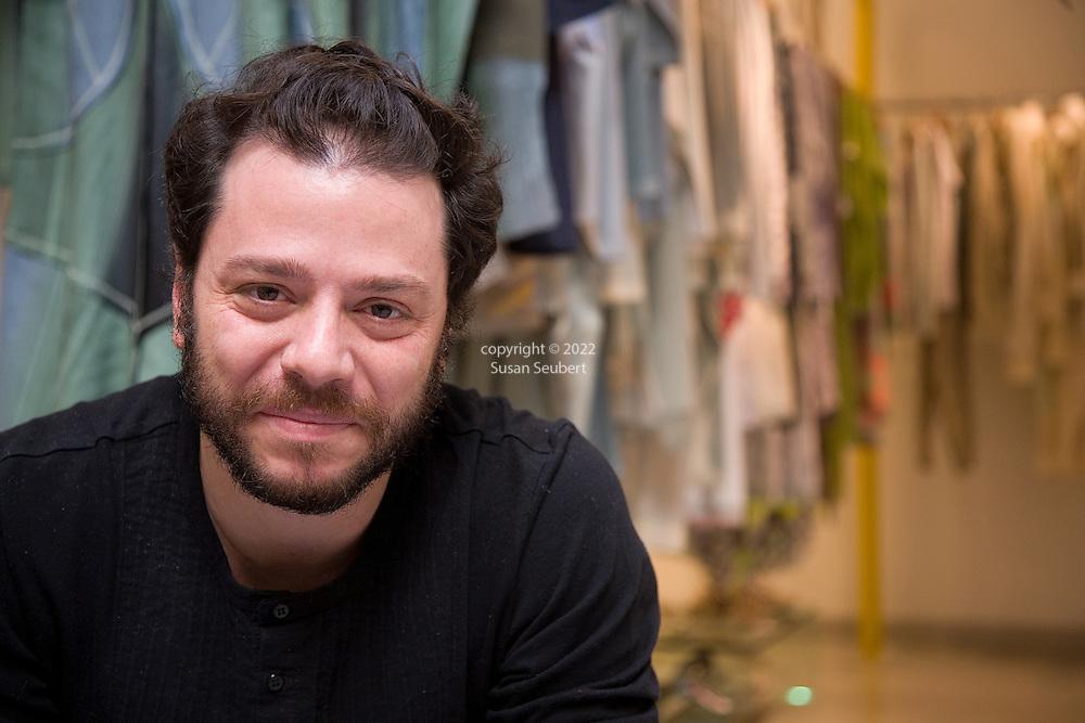 fashion designer Martin Churba in his store Tramando in the Recoleta district of Buenos Aires