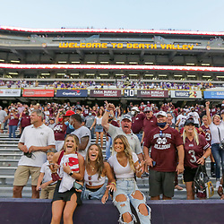 Sep 26, 2020; Baton Rouge, Louisiana, USA; Mississippi State Bulldogs fans celebrate following a 44-34 win against the LSU Tigers at Tiger Stadium. Mandatory Credit: Derick E. Hingle-USA TODAY Sports