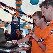 Opening Wanadoo Internet Beach Club Scheveningen, Peter Lusse