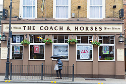Tottenham pubs don't yet appear to have made any special effort to decorate their premises ahead of Tottenham's Champions League final with Liverpool to be played at Atletico Madrid's Wanda Metropolitano Stadium in Madrid. Tottenham, London, May 29 2019.