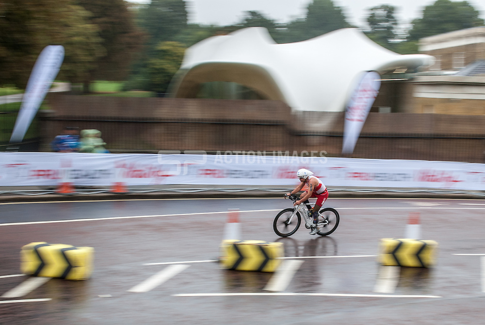 Martin Falch (AUT), World Triathlon Championships ParaTriathlon, Hyde Park London, UK on 13 September 2013. Photo: Simon Parker