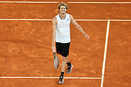 Alexander Zverev of Germany celebrates winning the Men's Singles Final match against Matteo Berrettini of Italy at the Mutua Madrid Open 2021, Masters 1000 tennis tournament on May 9, 2021 at La Caja Magica in Madrid, Spain - Photo Laurent Lairys / ProSportsImages / DPPI