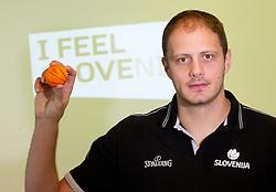 Raso Nesterovic, ex basketall NBA player at presentation of Eurobasket Slovenia 2013, on September 8, 2011, in Hotel Novotel,  Vilnius, Lithuania.   (Photo by Vid Ponikvar / Sportida)