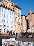 Piazza Della Rotonda, in front of the Pantheon, Rome, Italy.