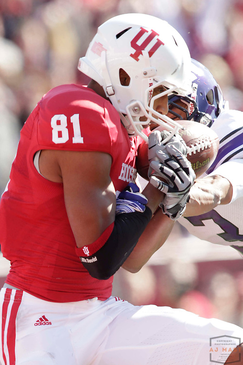 29 October 2011: Indiana Hoosiers wide receiver Duwyce Wilson (81) as the Northwestern Wildcats played the Indiana Hoosiers in a college football game in Bloomington, Ind.