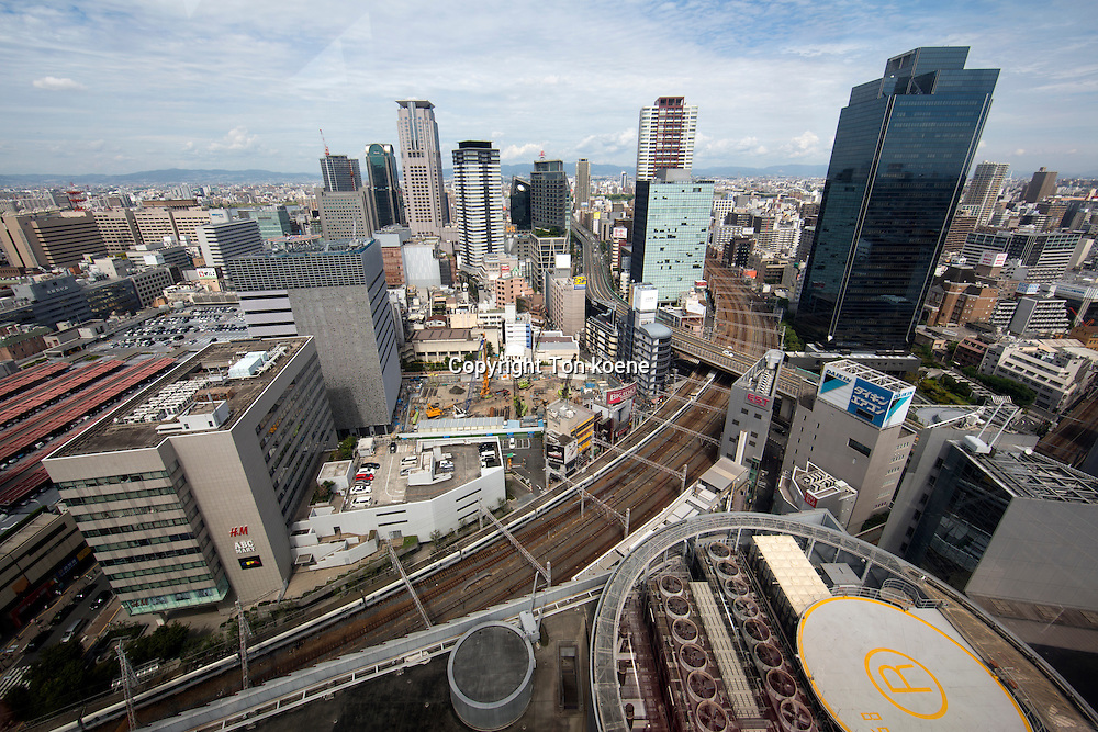 view on Osaka from a Ferris wheel