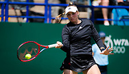 Elena Rybakina of Kazakhstan in action against Elina Svitolina of the Ukraine during the second round at the 2021 Viking International WTA 500 tennis tournament on June 23, 2021 at Devonshire Park Tennis in Eastbourne, England - Photo Rob Prange / Spain ProSportsImages / DPPI / ProSportsImages / DPPI