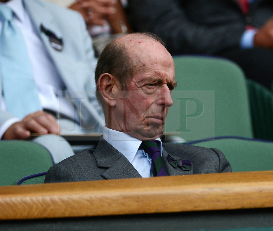 © Licensed to London News Pictures. 23/06/2014. Wimbledon, UK Prince Michael of Kent. Andrew Murray, GB defeats David Goffin, Belgium in the 1st round at the Wimbledon Tennis Championships 23rd June 2014. Photo credit : Mike King/LNP
