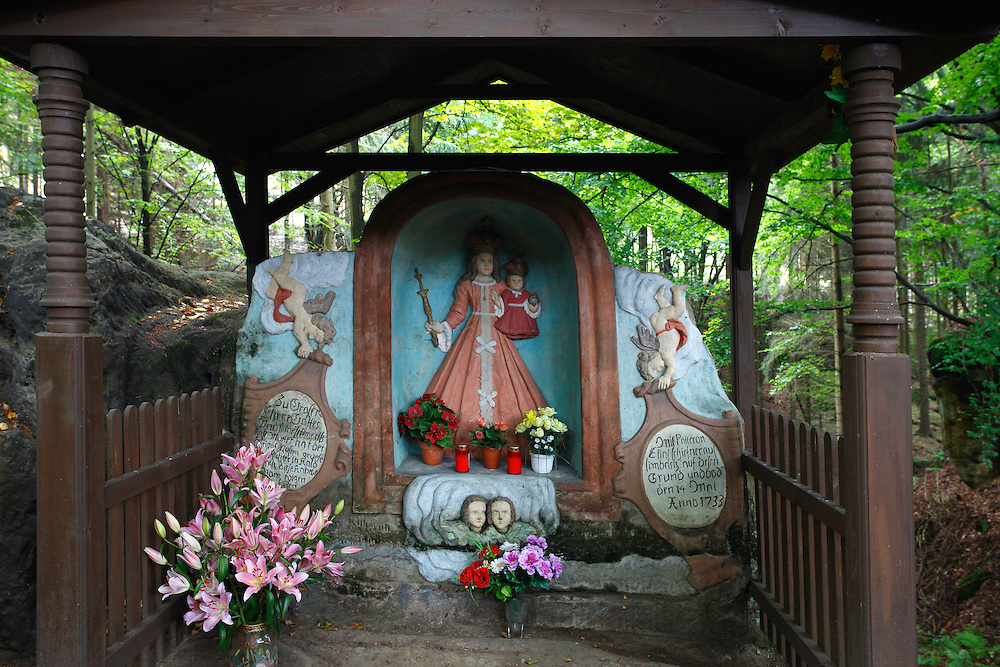 Religious Altar in  CESKE SVYCARSKO. CZECH REPUBLIC.
