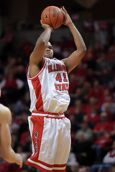 31 December 2008: Brandon Sampay.  Illinois State University Redbirds extended their record to 13-0 with an 80-50 win over the Evansville Purple Aces on Doug Collins Court inside Redbird Arena on the campus of Illinois State University in Normal Illinois