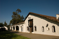 Chile Wine Country: Winery Undurraga, Vina Undurraga, near Santiago.  Horizontal of white winery building..Photo #: ch408-32809..Photo copyright Lee Foster, 510-549-2202, www.fostertravel.com, lee@fostertravel.com.